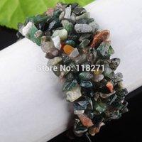 Precio de Chip stone bracelet-El envío de ágata india por mayor-Libre granos de las virutas de piedra pulsera del estiramiento 7