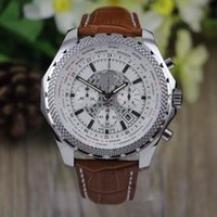 big numbers mens watches - New Arrivel MENS WATCH quartz chronograph white spuer big mm the essence of britain limited men watches number leather band wrist watch