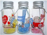 Wholesale 20 ml cute cartoon glass aluminum cover receive bottles Receive a small jar storage bottle