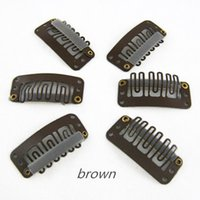 Wholesale Brown Color Clips cm Hair Clips U Tip Snap For Hair Extensions Weft Wigs Hair Accessories mm colors available