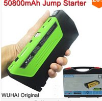 battery powered vehicles - 50800mAh WUHAI Car Jump Starter High capacity battery charger pack for auto vehicle starting And power bank for digital products