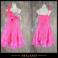 Wholesale MGOO Discount Imported Mini Bridesmaid Dress Beading One Shoulder Fushcia Black Celeb Prom Party Dress