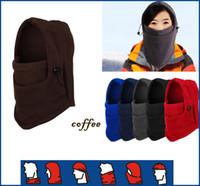 Wholesale New Winter Fishing Polar Fleece Mens Women Bucket Hats Caps Outdoor Fishing Hiking Cycling Sports CS style Cool Hat Cap