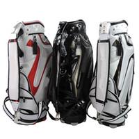 Wholesale 1PC Brand New golf bags PU high quality black white red Mens golf bag EMS ship