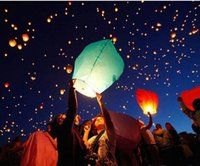 Cheap Paper Lantern HOT! Big Chinese KONGMING Lanterns Fly Sky Candle Lamp Flying Wishing Paper Light For Wish Party Wedding