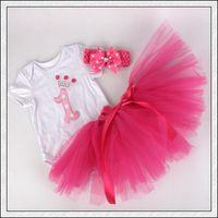 baby flower headband crochet - Hot infant outfits lace birthday cupcake romper baby pajamas tulle tutu skirt handmade crochet headband free ship