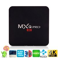 Wholesale MXQ Pro Android TV Box Amlogic S905 Quad Core Android5 G HDMI WIFI K Kodi Full loaded add ons