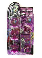 Wholesale Cartoon Stamper Monster high action figures Style So cute educational DIY stamp drawing set baby toy study stationary In Stock