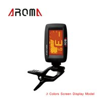 Wholesale Aroma Bass Guitar Tuner Degree Rotatable Clip on Digital Tuner for Guitarra Chromatic Bass Ukulele I692