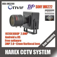 Wholesale Sony IMX222 P MP mini IP Camera ONVIF mm manual varifocal zoom lens Plug and Play With bracket