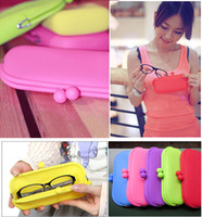 Wholesale Silicone Sunglasses Bags Phone Cases Coin Purse Key Holders Pouch Wallets Glasses iphone S plus Samsung S6 S5 Case Bag Factory Price