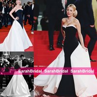Wholesale Cannes Royal Blue - 2014 BLAKE LIVELY Cannes Celebrity Designer Gowns Elegant Party Evening Dresses For 2016 Event Occasion Formal Wear Black and White Long