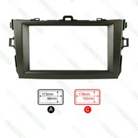 Wholesale Grey Car Refitting DIN Radio Stereo DVD Frame Fascia Dash Panel Installation Kits For Toyota Corolla