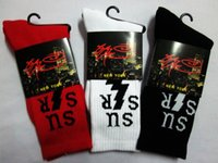 Cheap 24pcs=12pair Cotton mixed color men fuck SSUR lightning Thicken hiphop street dancing Plantlife Skateboarding Sport Socks 12pair lot