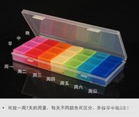 Wholesale Weekly Plastic Pill Storage Days Detachable Pillboxes cm outdoor colorful portable medicine boxes