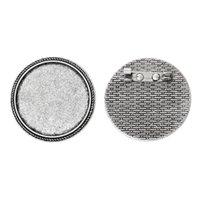 aqua cabochons - Fine Jewelry Brooches Fit mm Dia Cabochons Silver Tone Carve Lace cm