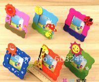Wholesale Freeship Pieces Mixed cute wooden cartoon children s kids photo frame cartoon baby photo frame Birthday Gift