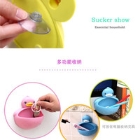 Wholesale banheiro bathroom accessories prato Cute little blue duck Wall Soap dish rilakkuma jabonera base