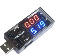 Wholesale 2015 Newest LED USB Charger Capacity Current Voltage Tester Meter For Cell Phone Power Bank