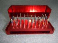 dental drill burs - High Speed Burs Dental Diamond Burs Drill Disinfection Red Bur Block block racing