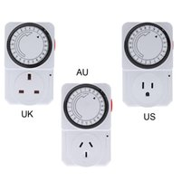 Wholesale 24 Hour Programmable Mechanical Electrical Plug Program Timer Power Switch Energy Saver UK US AU Plug