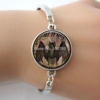 bats bird - Bat Image Bracelet birds Charm Anatomy bangle bracelet Vintage Design Bronze Metal Jewelry one piece BAT01