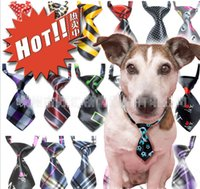 adorable small dogs - Adjustable Dog Cat Pet Lovely Adorable sweetie Grooming Tie Necktie Wear pattern Clothing Products Sale HJIA099