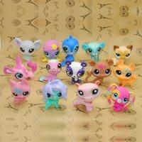 big pet shop - 10pieces Littlest Pet Shop original action figures lps toys gift for girls loose little pet shop Genuine cat dog