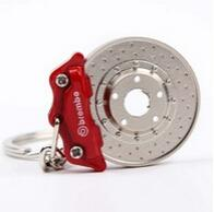 Promotion auto calipers - 2015 Car Auto Parts Brembo Disc Brake Shape Calipers Model Keychain Key Rings Creative Accessories Interior Pendant Keyholder Keyrings