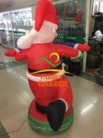 airblown inflatable christmas - Airblown Inflatable Santa Dancing with Snow Man Christmas Outdoor Yard Decor New
