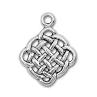 antique eternity - Free Lead Antique Silver Plated Eternity Knot Charms DIY Cute Religious Pendant Christmas Gifts Jewelry Accessories
