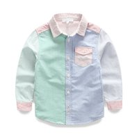 baby block decoration - new autumn Baby color block Striped shirt decoration children s clothing long sleeve shirt