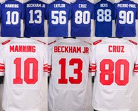 beckham football - Elite Eli Manning Victor Cruz Odell Beckham Jr Royal Blue Stitched Mens Jerseys Mix Order Accept