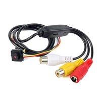 al por mayor cámaras de seguridad ntsc-600TVL mini cámara de CCTV de seguridad para el hogar de audio de alta definición de audio ocultado agujero de alfiler DIY cámara NTSC / PAL F4315