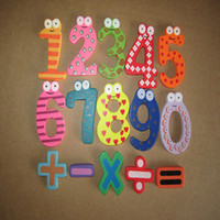 Wholesale 2014 New Magnetic Wooden Numbers Math Set Digital Baby Educational Toy To Better