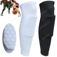 Cheap Honeycomb Pad Crashproof Antislip Basketball Leg Knee Long Sleeve Protector Gear#SV005269