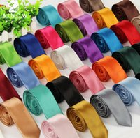 Wholesale 10pcs colors New Mens Skinny Solid Color Plain Satin Tie Necktie silk Wedding tie black and white necktie silk jacquard woven tie