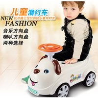 Wholesale Large car scooter dog cartoon piggy light music years old can sit factory direct one generation
