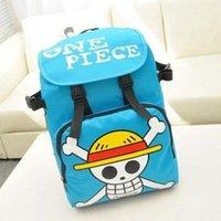 Wholesale One Piece Backpack For Children New Nylon Mochila One Piece Bag Anime School Supplies Luffy Mochila Escolar Infantil Menina