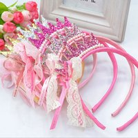 Wholesale New fashion lovely Cute Girls Princess Hair Band Crown Headband Tiaras children kids hair accessories