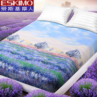 Wholesale Fitted Sheet Bed Sheet Purple Mattress Cover Twin Full Queen King Size Protector Bedspread HOT