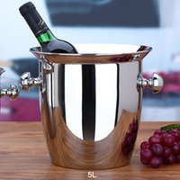 beer bank - L Size L Top Grade Stainless Steel Ice Bucket Ice Pail Drink Chiller Champagne Beer Chiller Ice Bucket Bank order lt no t