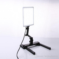 photographic stand - Professional CN T96 K LED Light Lamp W with Mini Shooting Bracket Stand Set Photographic Lighting Kit A3