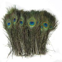 Wholesale Natural Peacock Feather Beautiful Feathers about cm Elegant decorative materials