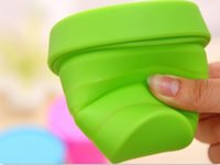 Wholesale ml Silicone folding cup Telescopic cup silicone Travel outdoor trip Storage cup