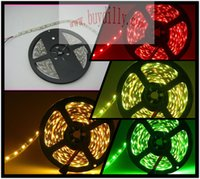 Wholesale 60Pcs Red Yellow Blue Green White Warm White DV12V M Waterproof IP65 SMD5050 flexible LED Strip Light with Remote Control W007