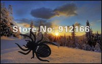 Wholesale Freeshipping Solar spider Mini Solar Toy Solar Energy Powered Spider fun Kids Toy cute present