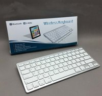 Wholesale Bluetooth Wireless White Keyboard for PC Macbook Mac ipad Air iphone S G S PLUS ipad mini with retail box
