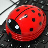 Wholesale Cute Beetle Ladybug Cartoon Desktop Vacuum Desk Dust Table Cleaner Portable New