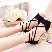 ash wedge sandals - 2015 summer cross strappy Sandals wedges casual student women s Sandals fashion shoe ASH